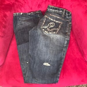 Bebe distressed jeans